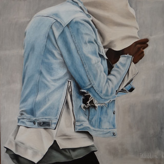 Hoodie, oil on canvas, 80x80