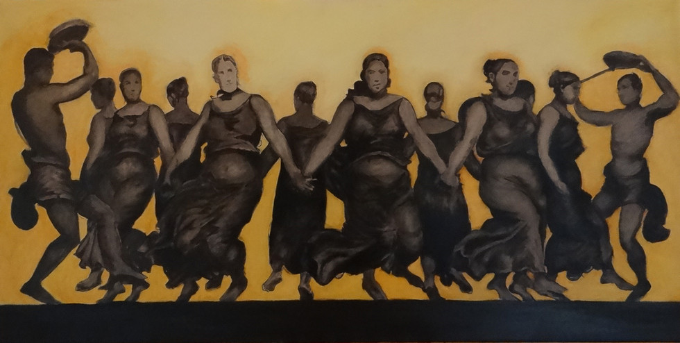 the Dance, oil on canvas,140x70 S