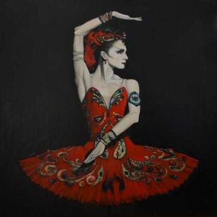 Ballerina, oil on canvas, 60x60