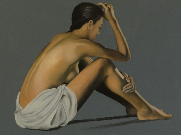 After the Bath II, oil on canvas, 100x70