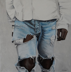 Jeans ,oil on canvas, 80x80 S