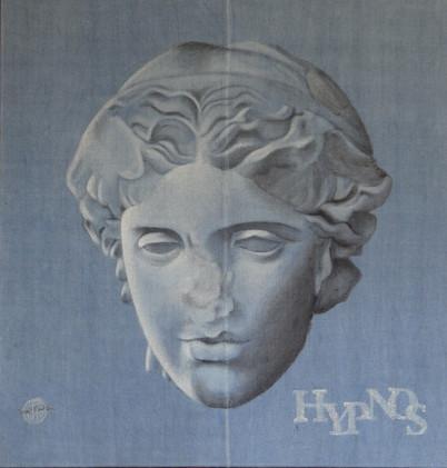 Hypnos, Acrylic on jute sack, 90x85