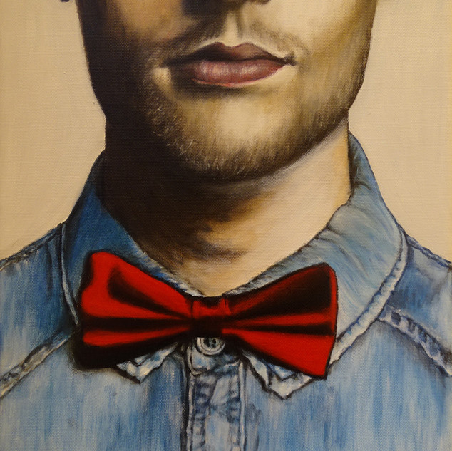 Red Bow Tie, oil on canvas, 33x41