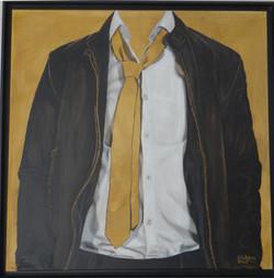 Leatherjacket, oil on canvas, 80x80 S