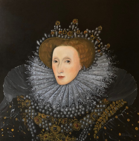 Queen Elisabeth I, oil on canvas, 100x100 S