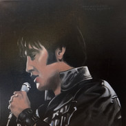 Elvis, oil on canvas, 60x60