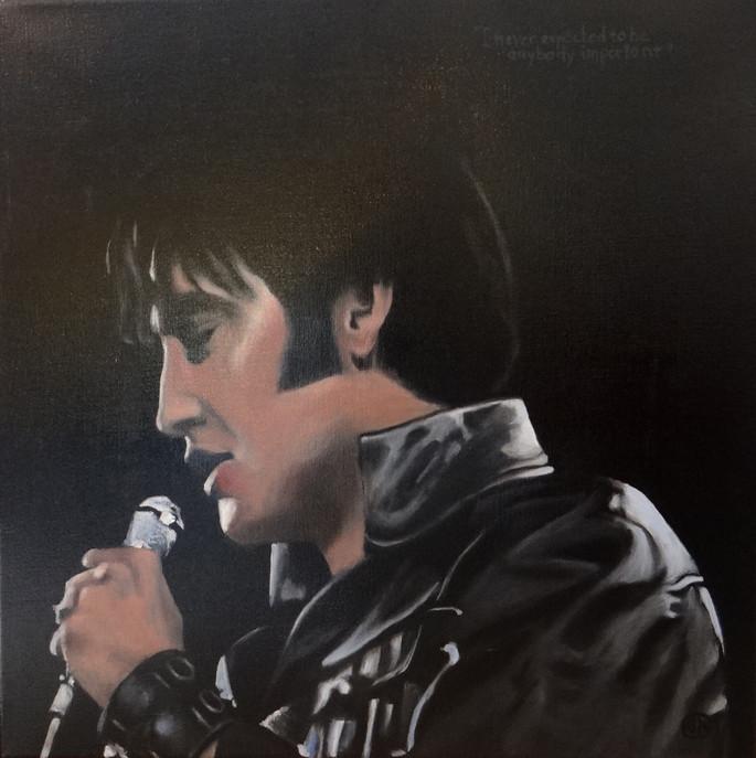 Elvis, oil on canvas, 60x60