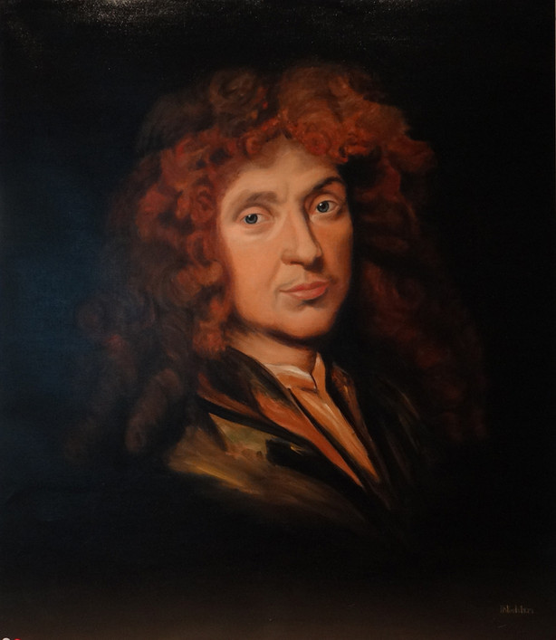 Molière d'après Mignard, oil on canvas, 100x120 S