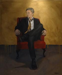 Oscar in chair, oil on canvas, 100x120 S