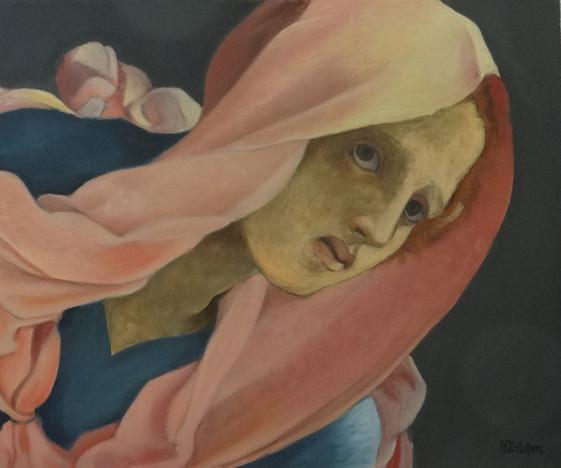 Detail d'après Pontormo, oil on canvas, 55x46