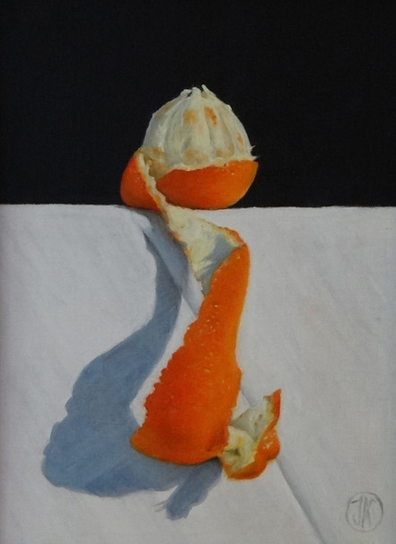 Orange, 21x28, oil on canvas S