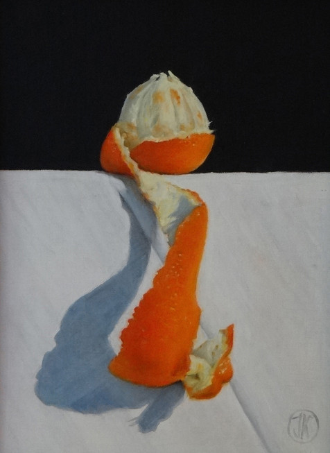 Orange, 21x28, oil on canvas S