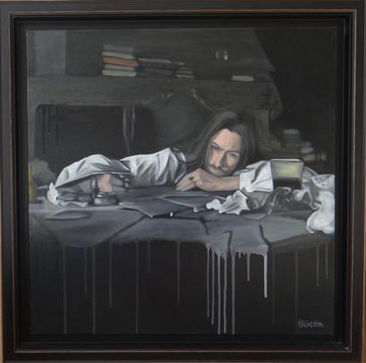 Classic, Molière, oil on canvas, 60x60