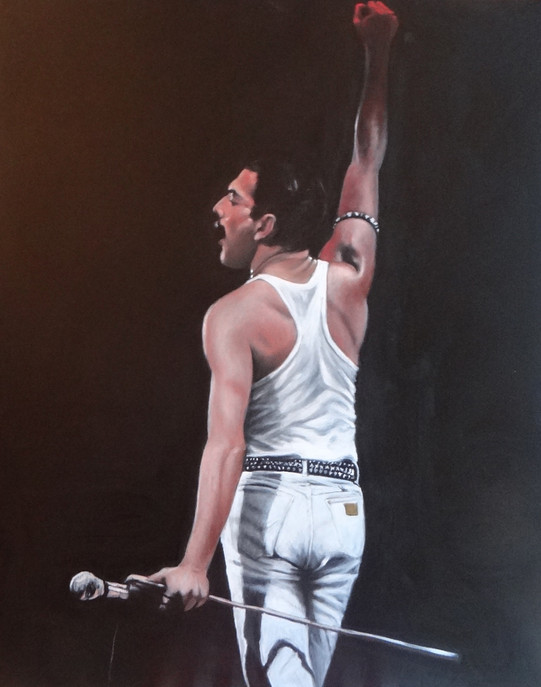 Freddie Mercury, oil , 80 x 100 S
