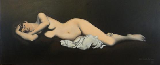 Naked d'après Lefebvre,oil on canvas,120