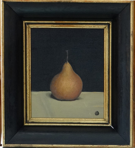 Pear, oil on canvas, 16x20 S