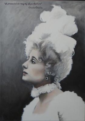 Prima Ballerina Anna Pavlova, oil on can