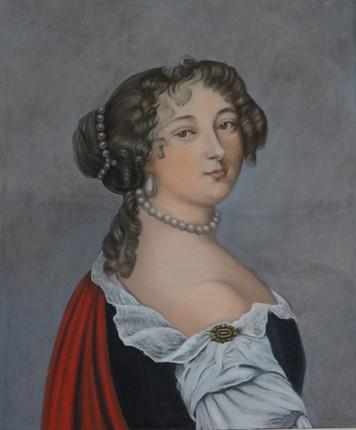 Mme de Montespan, oil on canvas, 100x120 S