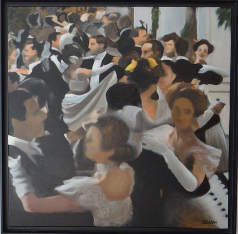 Wienervals, oil on canvas, 80x80 S