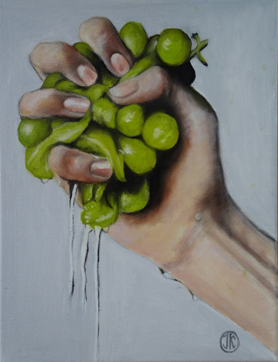 Grapes of wrath, oil on canvas,  27x35