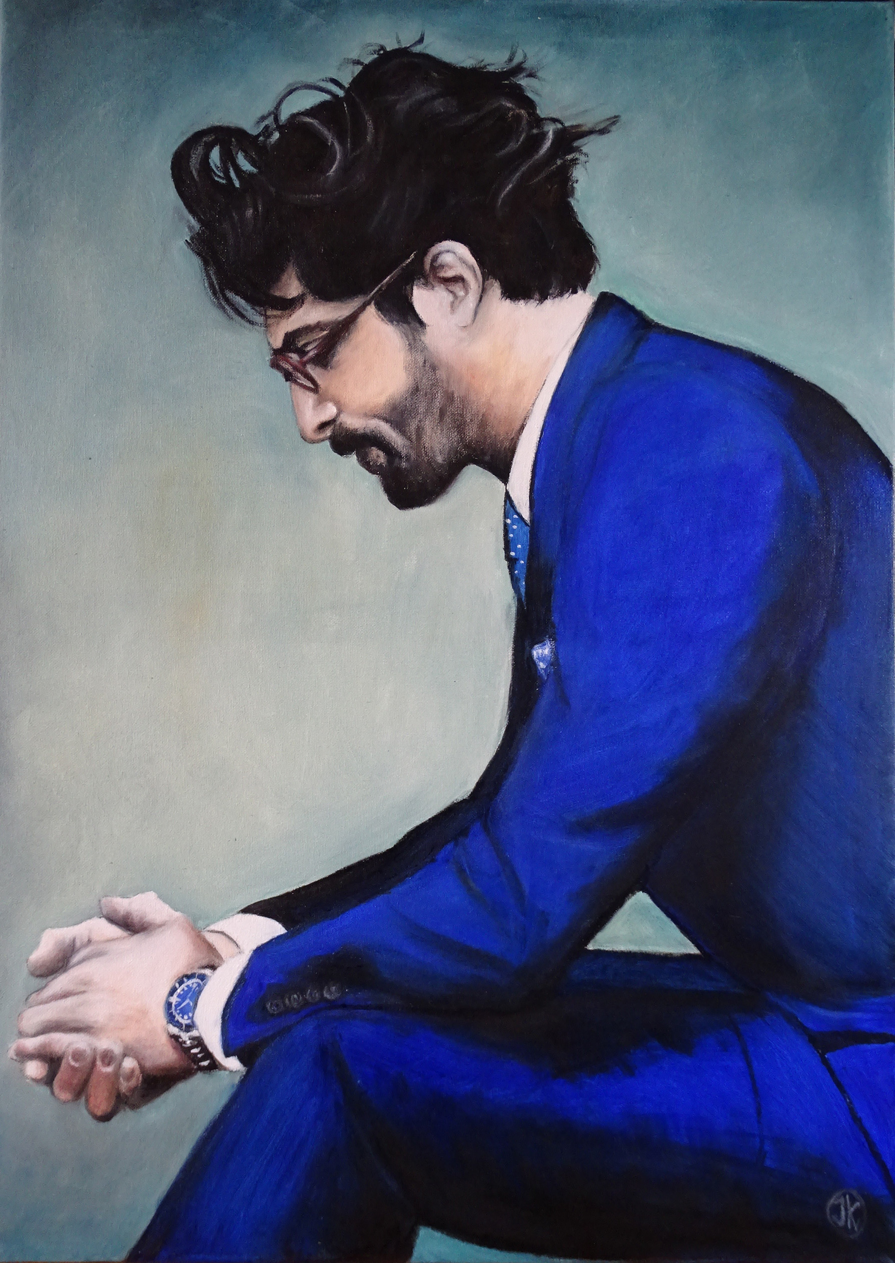 Blue, oil on canvas, 60x80