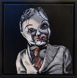 Krackelerad Fasad,  oil on canvas, 30x30