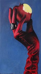 Eva's temptation, oil on canvas,