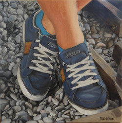 Shoes, oil on canvas, 40x40 S