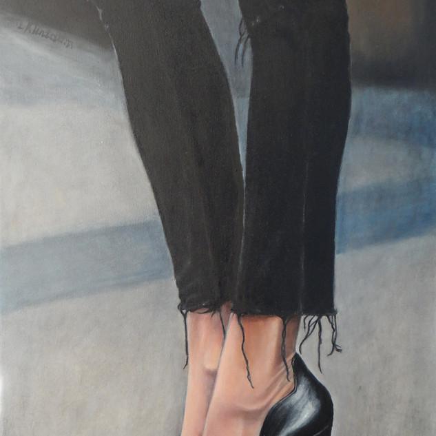 Black High Heels, oil on canvas, 50x80 S