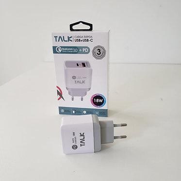 FONTE TURBO TALK 3.0 USB + USB-C