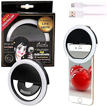 RING LIGHT PARA CELULAR COM 3 NIVEIS DE LED