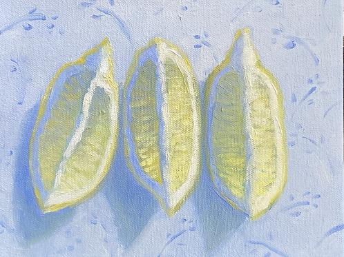 """Blue Pattern with Lemon"""