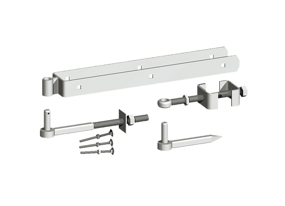 Galvanised Adjustable Hinge Set