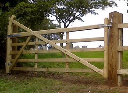 3.6m Shuttleworth Curved Heel Field Gate Kit