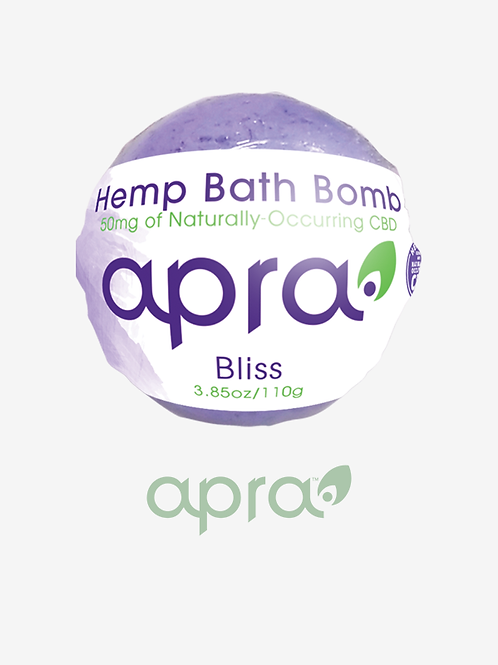 Bliss Hemp Bath Bomb, 50mg