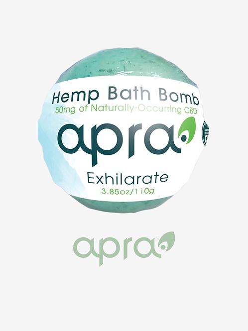 Exhilarate Hemp Bath Bomb, 50mg