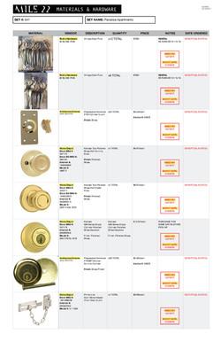 Materials & Hardware