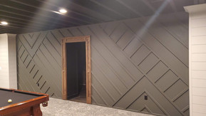 Angled Trim Feature Wall