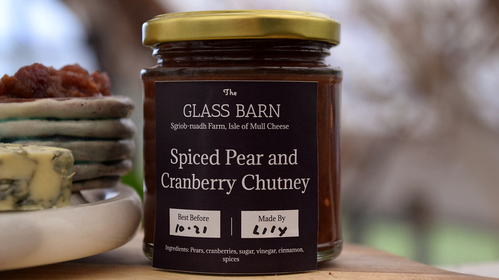 Spiced Pear and Cranberry Chutney
