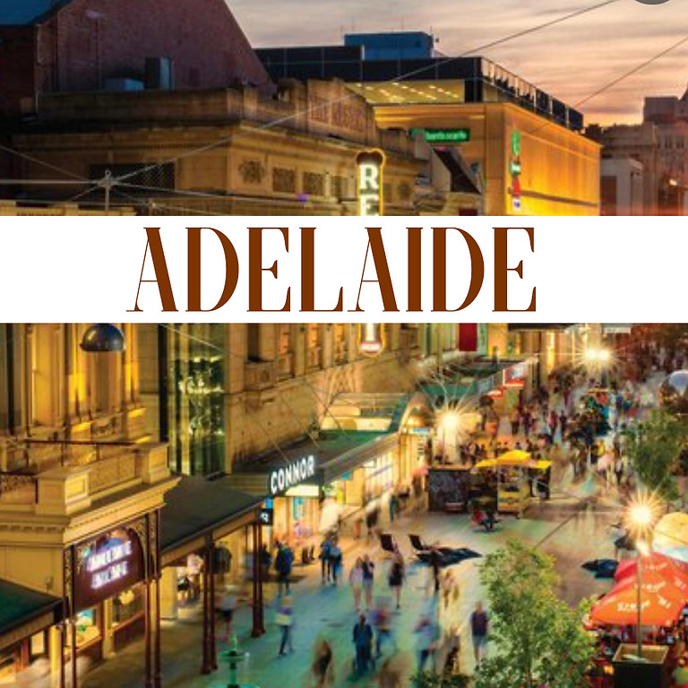 Adelaide 25th-27th August, prebook and deposit is essential