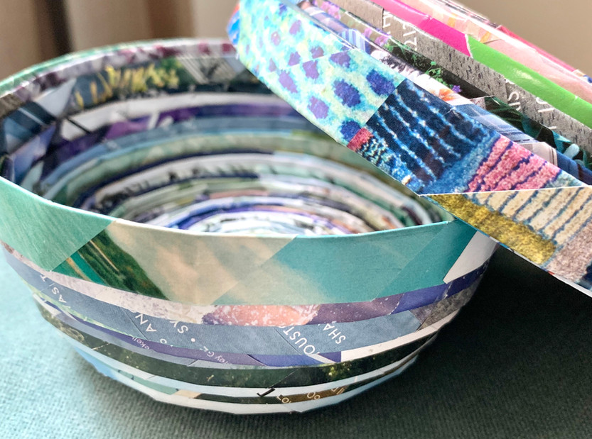 Magazine Bowls + Boxes for your Trinkets + Treasures