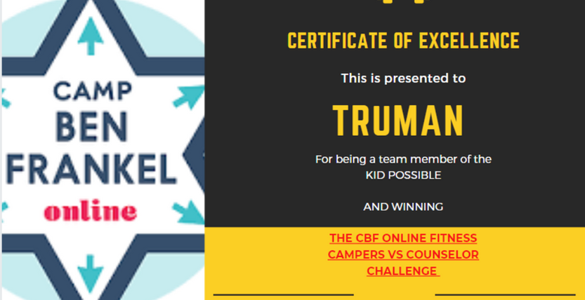 Truman - Certificate of Excellence