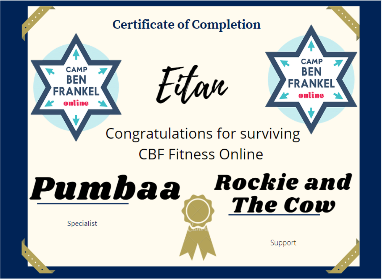 Eitan - Certificate of Completion