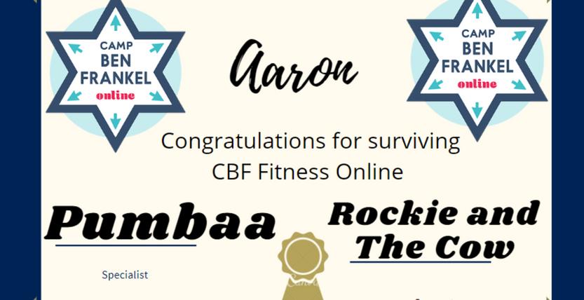 Aaron - Certificate of Completion