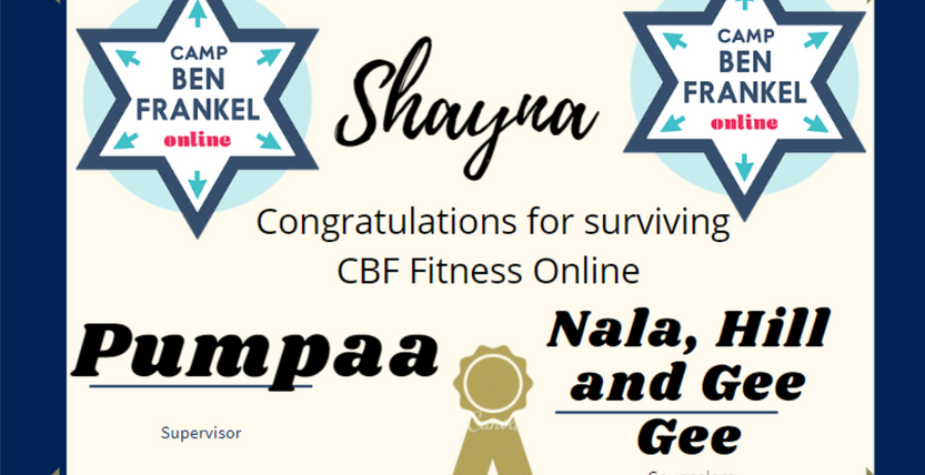 Shayna - Certificate of Completion