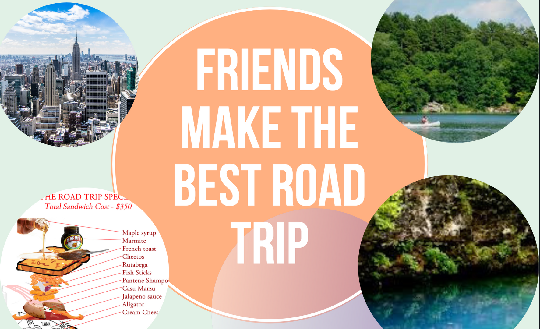 Road Trip - Friend Postcard - Front