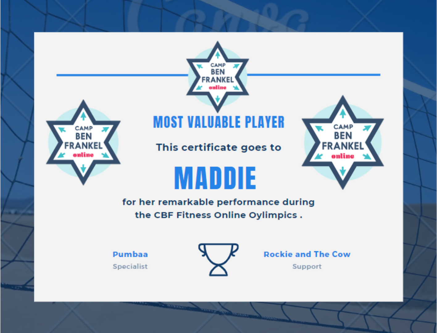 Maddie - Most Valuable Player