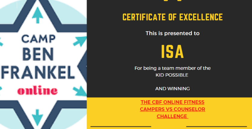 Isa - Certificate of Excellence
