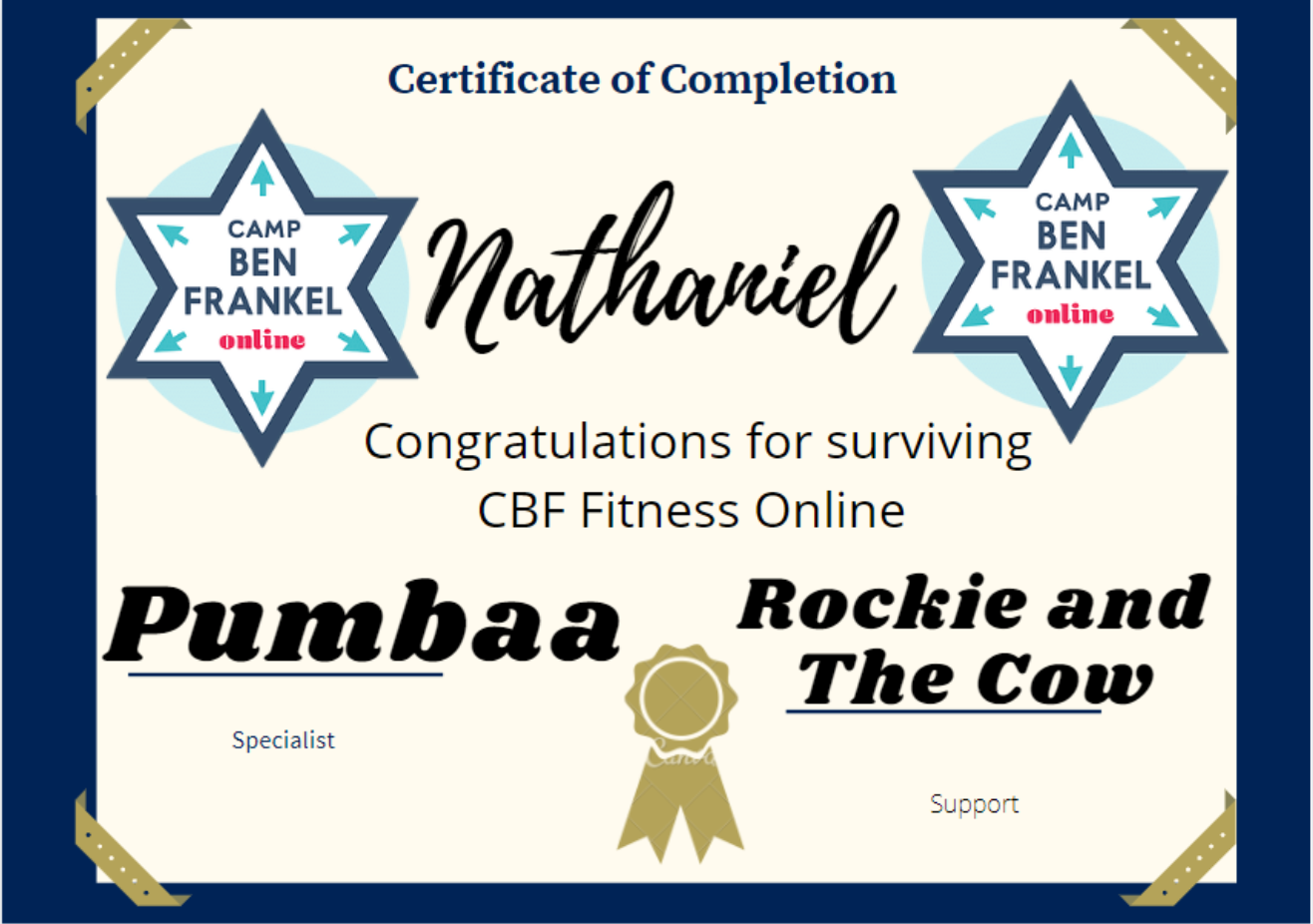 Nathaniel - Certificate of Completion