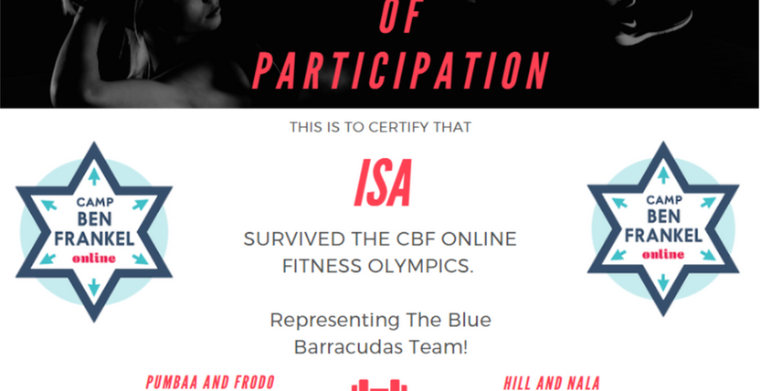 Isa's Certificate of Participation
